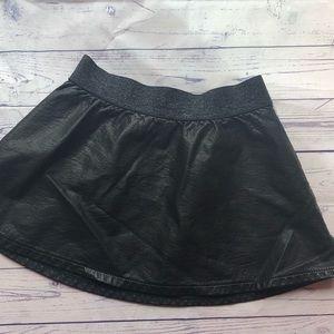 3t leather mini skirt